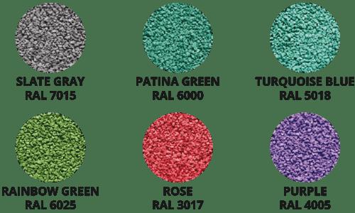 kolory płyt EPDM